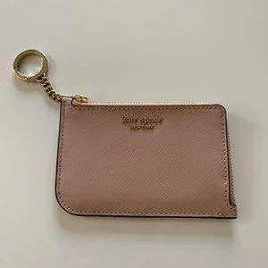 Kate Spade L Zip Pink Card Holder
